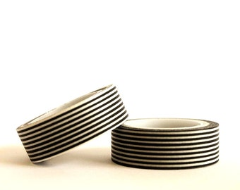 Black Stripes Washi Tape