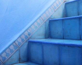 "Steps in Chefchaouen, Morocco - 8"" x 10"" fine art print"