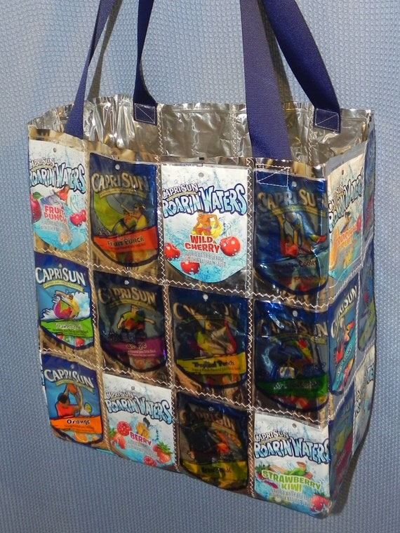 Eco Friendly Capri Sun Juice Drink Pouch Large Tote Bag Or
