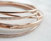 Rose gold bangle bracelet set - rose gold bracelets