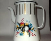 Vintage Berggren Enamelware Coffeepot