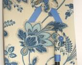 Journal composition notebook journal wih matching Kanzashi flower fountain pen.