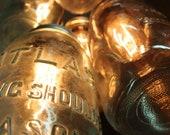 Five Light Mason Jar Chandelier with vintage glass