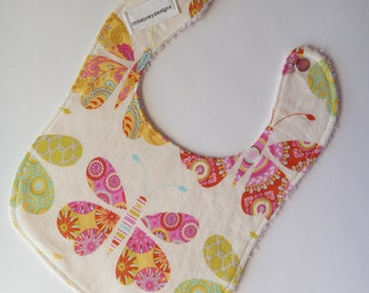 Butterfly Baby Bib for Girls