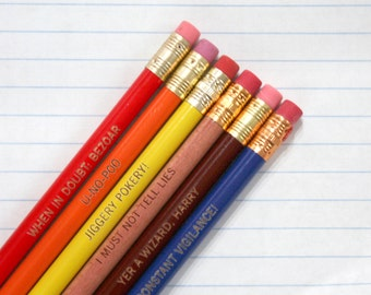 jiggery pokery engraved pencil set of 6 pencils. Stocking stuffers