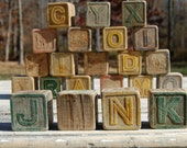 Darling Vintage Wood Toy Blocks