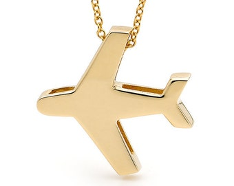 9ct Yellow Gold AEROPLANE Necklace