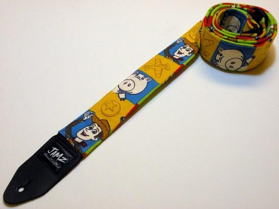 Christmas Sale - Handmade TOY STORY Guitar Strap - Woody - Buzz Lightyear