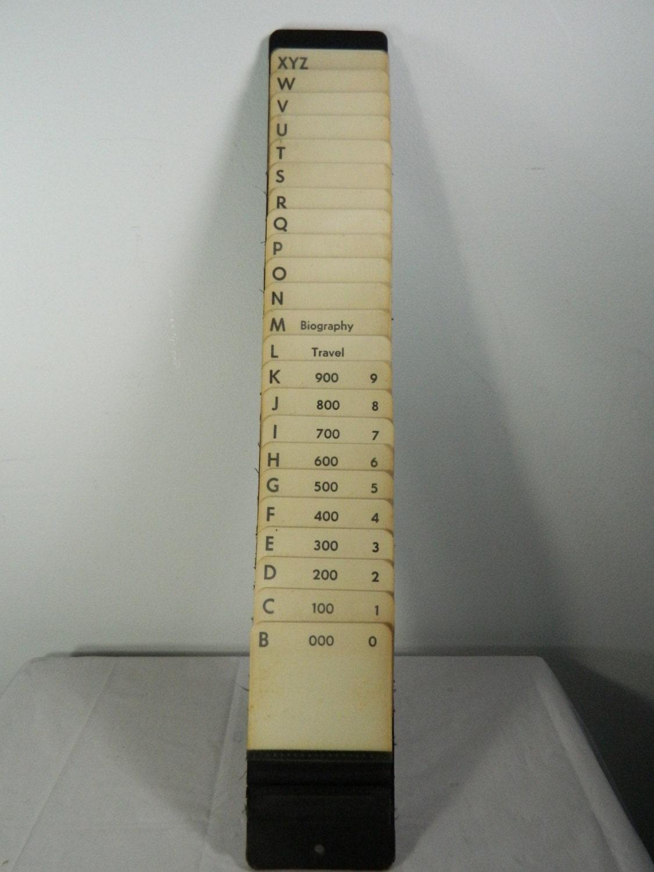 Vintage Office Sorter Industrial Alphabetizer Prop Or Decor