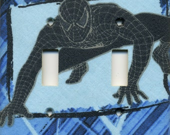 Dark Spider-Man Double Light Switch Plate