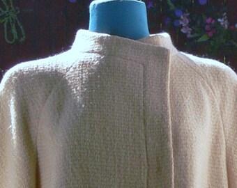 Youthcraft  cream dress coat  size 12 union label