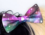 Galaxy Print Space Cosmic Hair Bow Headband
