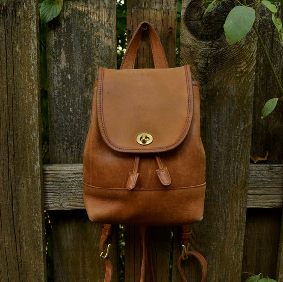 Authentic Vintage Leather Backpack by Coach