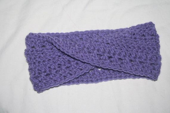 Pretty Purple Headband Earwarmer- for the ladies