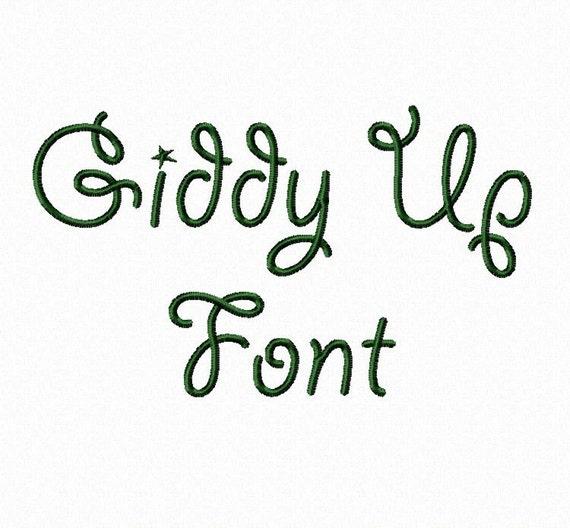 Giddy Up Machine Embroidery Font Monogram Alphabet - 3 Sizes
