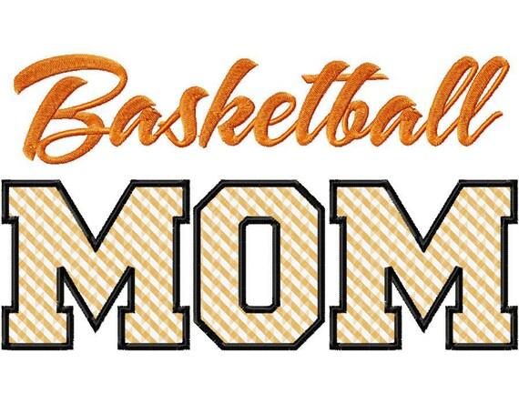 Basketball Mom Applique Machine Embroidery Design - 3 Sizes