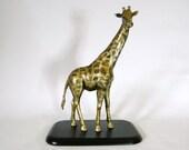 Giraffe Sculpture, Hand Sculpted,  One Of A Kind Ornament