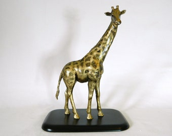 Giraffe Art, Hand Made Animal,  Original Sculpture