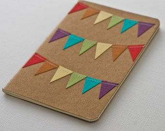 Rainbow Journal, Mini Notebook, Kraft Paper Notebook, Gifts under 10, Teacher Gifts, Kids Journal, Pocket Journal, Moleskine Journal