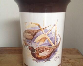Vintage Thermo Serv pitcher wild life bird plastic