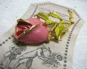 Vintage Rose Brooch Pin, Mother Day Gift