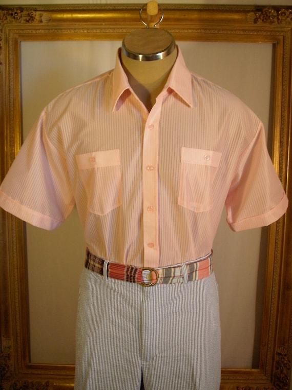 Mens Pink Short Sleeve Shirt - Size XL