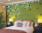 Vinyl Wall Decal wall Sticker nursery Room vinyl decal tree decal branch decal living room wall decor wedding decor-Branch with Flying Birds