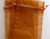 Set of 10 Copper Organza (5x8) Bags