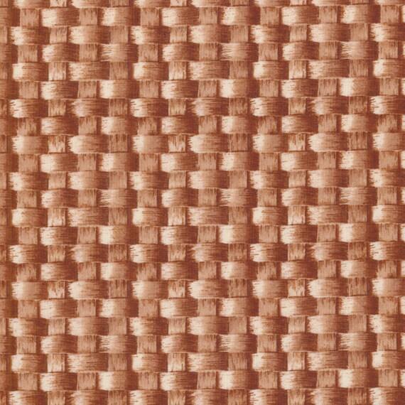 BASKET WEAVE  by 1/2 yard RJR fabric Farmer's market 2012 1290-01 tan