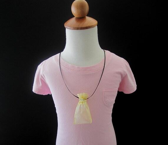 Set of 5 Pixie Dust Necklaces -  Pirate's  Party Favor - Gold Bag Necklaces