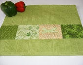 Embellished Granny Smith Green Kitchen Towel...great gift...free shipping