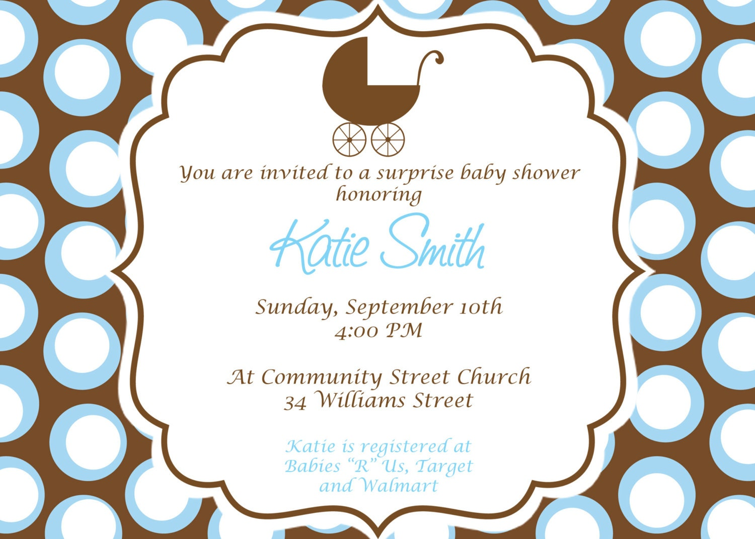 Baby Boy Baby Shower Invitation. Custom Printable by cohenlane