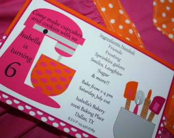 Baking Party Collection Custom Invitations