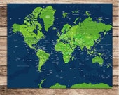 WorldMap Poster, 16X20 Inches, Custom sizes and Colors available, Farewell gift, Newlyweds, couples, travel