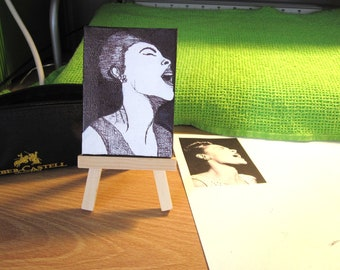 Billie Holiday Pen and Ink