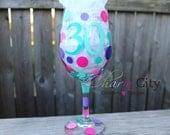 Personalized Birthday Wine Glasses