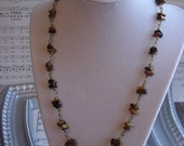 Tigers Eye Wire Wrapped Necklace