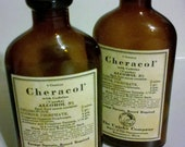 Vintage brown Apothecary bottles UpJohn company Cheracol/chloroform/codine (HOLIDAY SALE)