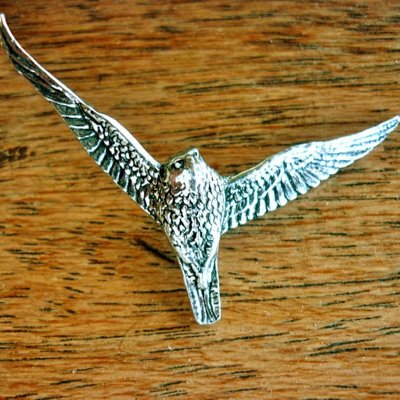 FALCON //// Antiqued Pewter Pin