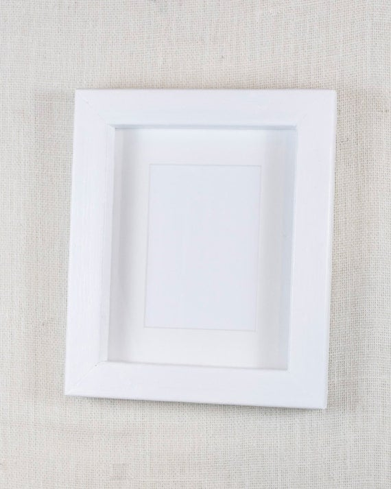 8x10 thick wood picture frame bright white deep frame block picture frame