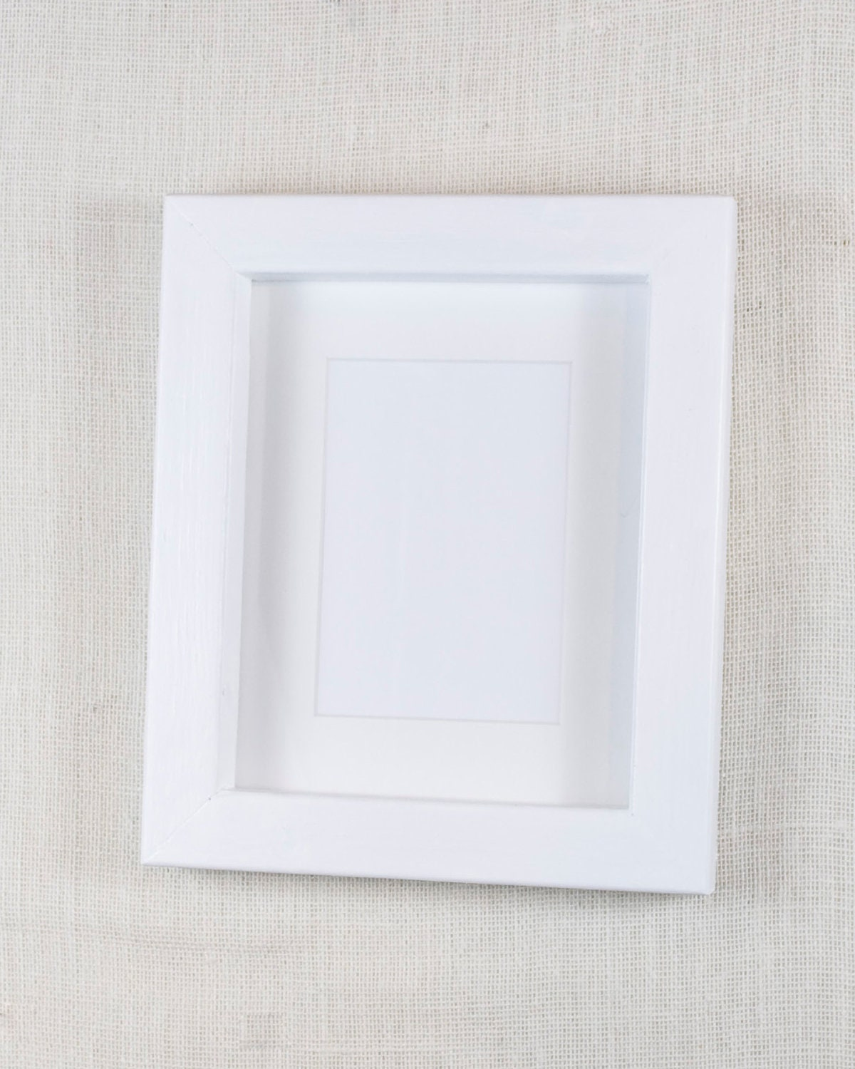 8x10 Thick Wood Picture Frame Bright White Deep Frame