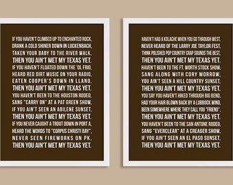 Personalized Quote Print 11x14 Set of two prints (poem, song lyrics, inspirational quote, message, vows ) in brown, custom colors