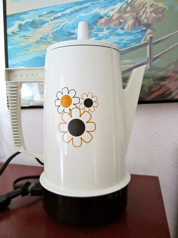 vintage Funky Regal Coffee Pot , etsy