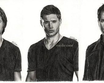 Art prints Supernatural (Sam, Dean, Castiel)