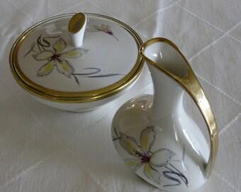 Sale***Bavarian China Vintage Cream and Sugar Set - Mid Century Modern Design - Made in Germany