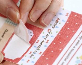 Lovely Cotton Fabric Decor Sticker