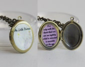 The Little Prince with quote-- locket w/ chain