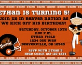 OSU Oregon State Beavers Football Birthday Invitation Print Your Own 5x7 or 4x6