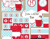 Hot Chocolate Party Collection Printable invitation by Luv Bug Design