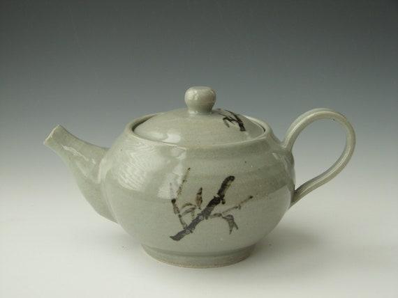 Handmade Ceramic Teapot Pottery Teapot Celadon Bamboo Teapot